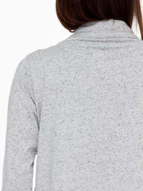 Szara bluza dresowa typu kardigan                                  zdj.                                  10