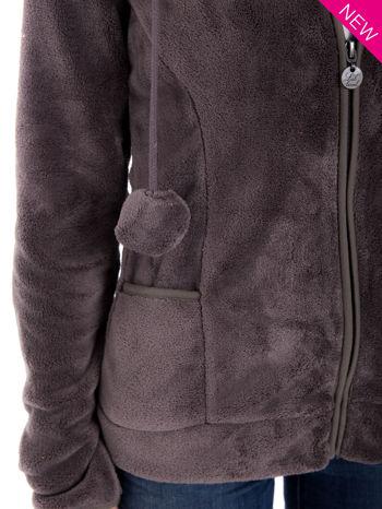 Szara bluza miś z kapturem z uszkami i pomponami                                  zdj.                                  6