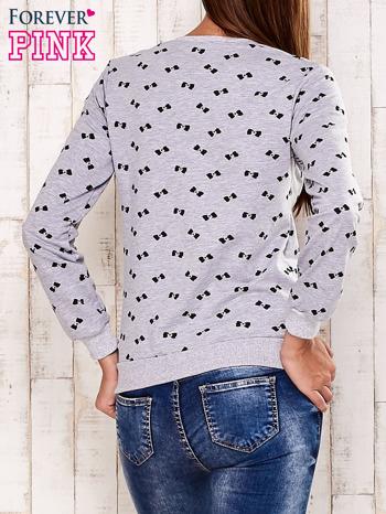 Szara bluza motyw kokardek                                  zdj.                                  2