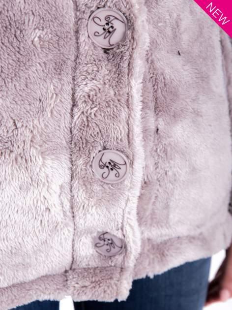 Szara bluza pluszowa z wysokim kołnierzem                                  zdj.                                  10