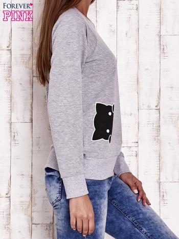 Szara bluza z kocimi motywami                                  zdj.                                  3