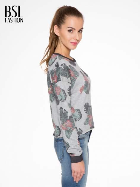 Szara bluza z nadrukiem floral print                                  zdj.                                  3