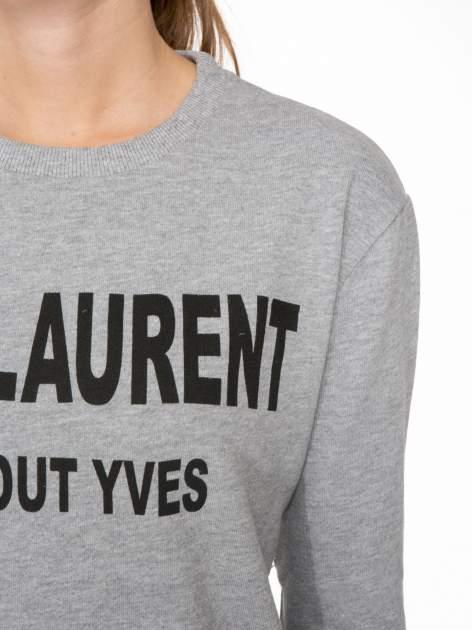 Szara bluza z narukiem AIN'T LAURENT WITHOUT YVES                                  zdj.                                  5