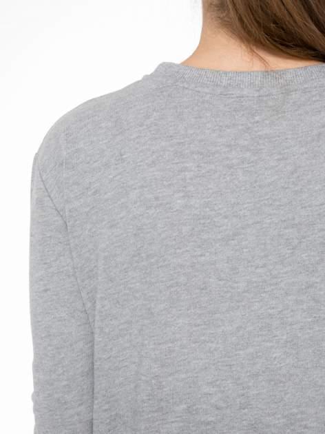 Szara bluza z narukiem AIN'T LAURENT WITHOUT YVES                                  zdj.                                  7