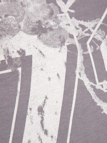 Szara bluza z numerem w stylu collage                                  zdj.                                  5