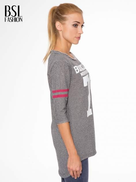 Szara bluza z numerkiem w stylu baseballowym                                  zdj.                                  3