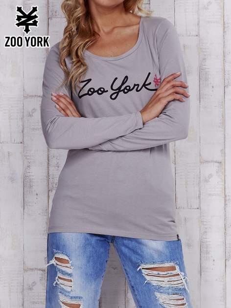 Szara bluzka z napisem ZOO YORK