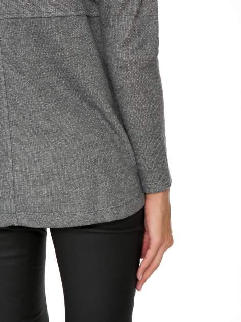 Szara dresowa bluza oversize z kieszeniami                                  zdj.                                  9