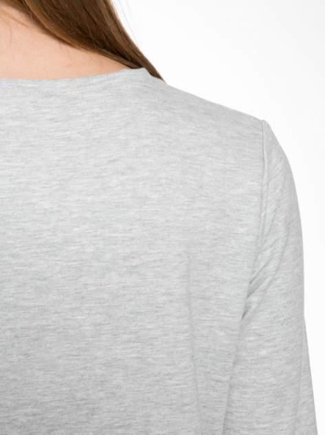 Szara dresowa bluza z nadrukiem królika                                  zdj.                                  8