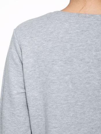 Szara dresowa bluza z nadrukiem tygryska i napisem HUG ME!                                  zdj.                                  8