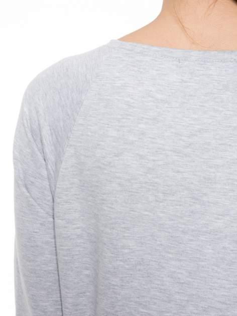 Szara dresowa bluza z nadrukiem wiewiórki                                  zdj.                                  7