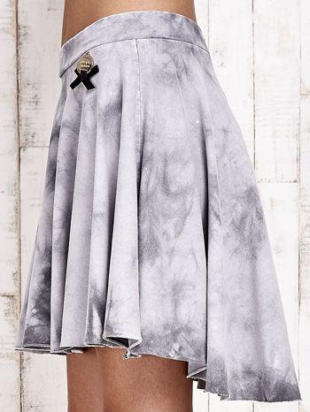 Szara dresowa spódnica szyta z koła z efektem  tie-dye                                  zdj.                                  7