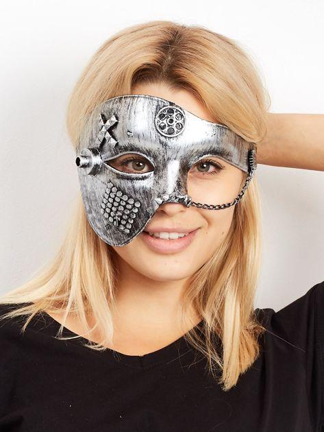 Szara maska karnawałowa                              zdj.                              1