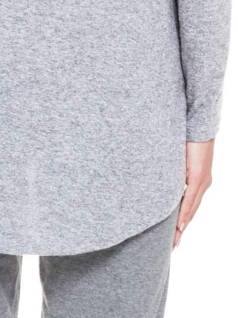 Szara otwarta bluza dresowa z kapturem                                  zdj.                                  6