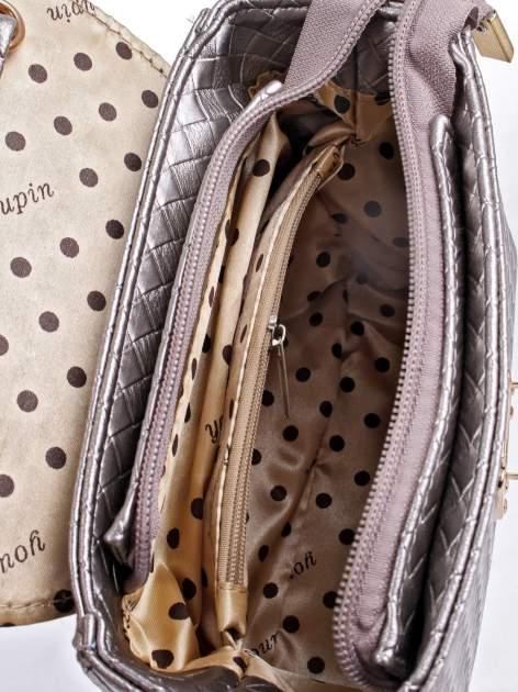 Szara pikowana mini torebka kuferek w stylu retro                                  zdj.                                  11