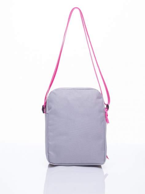 Szara pionowa torba szkolna DISNEY Violetta                                  zdj.                                  3