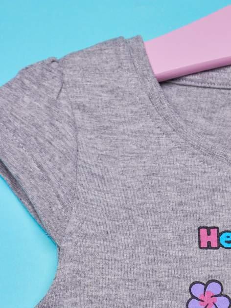Szara spódnica dla dziewczynki HELLO KITTY z kokardką                                  zdj.                                  3