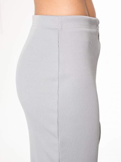 Szara spódnica midi z suwakiem z przodu                                  zdj.                                  7