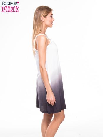 Szara sukienka na ramiączka z efektem ombre                                  zdj.                                  2