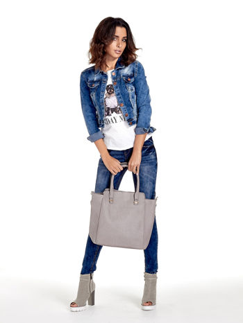 Szara torba shopper bag                                  zdj.                                  2