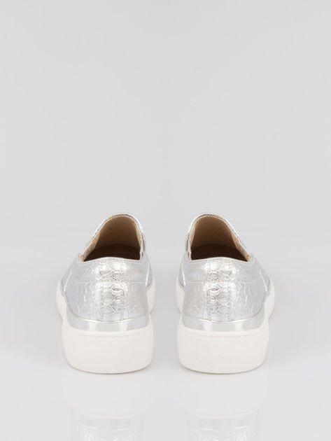 Szare buty sliponki glitter                                  zdj.                                  3