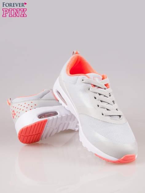 Szare buty sportowe New York z siateczką i poduszką powietrzną w podeszwie                                  zdj.                                  4