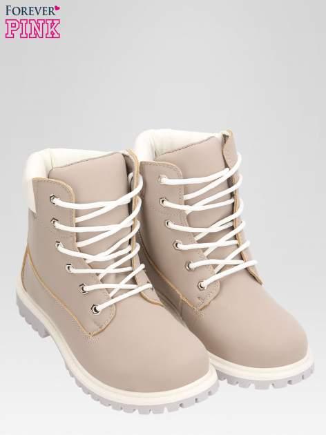 Szare buty trekkingowe damskie traperki                                  zdj.                                  6