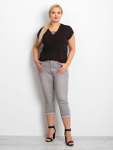 Szare jeansy plus size Sherbet                              zdj.                              4