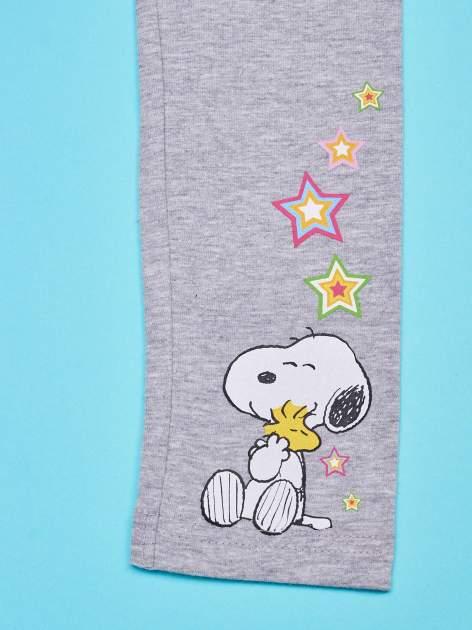 Szare legginsy dla dziewczynki SNOOPY                                  zdj.                                  4