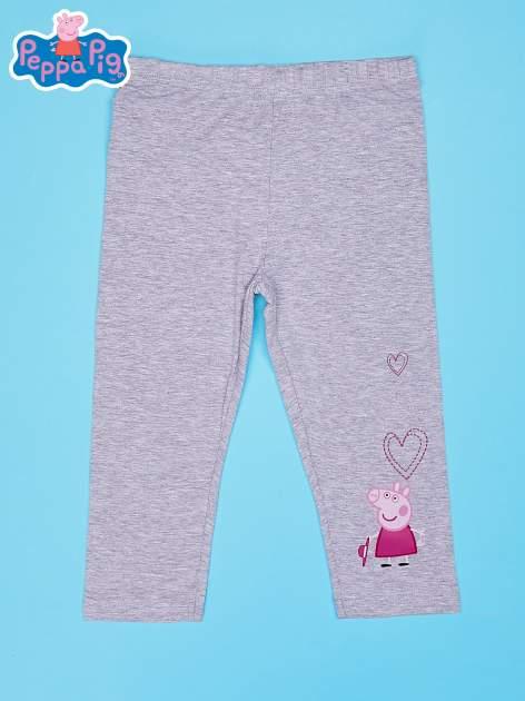 Szare legginsy dla dziewczynki nadruk ŚWINKA PEPPA                                  zdj.                                  1