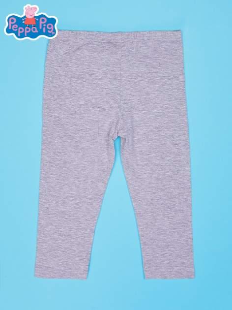 Szare legginsy dla dziewczynki nadruk ŚWINKA PEPPA                                  zdj.                                  2