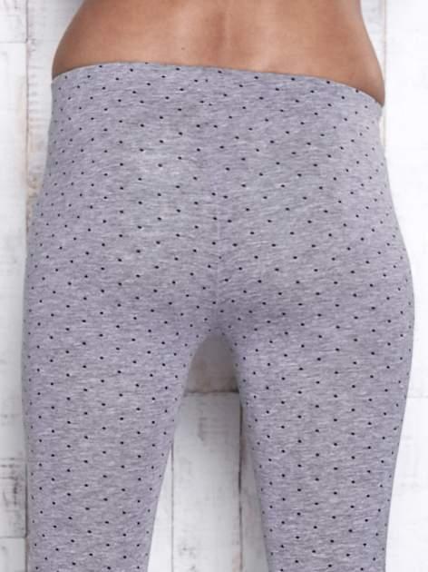 Szare melanżowe legginsy w kropki                                  zdj.                                  6