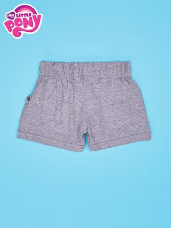 Szare szorty dla dziewczynki z fioletowym nadrukiem MY LITTLE PONY                                  zdj.                                  2