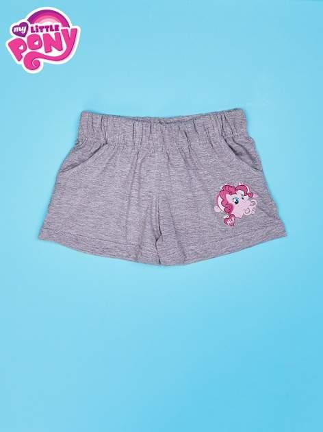 Szare szorty dla dziewczynki z różowym nadrukiem MY LITTLE PONY                                  zdj.                                  1