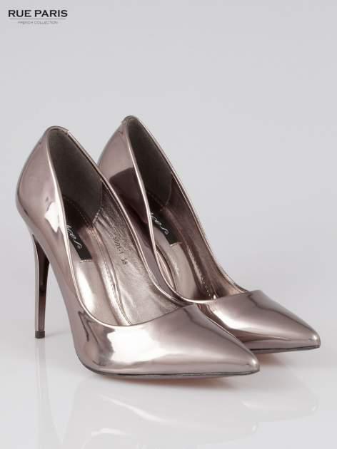 Szare szpilki metaliczne Mirror Heels                                  zdj.                                  2