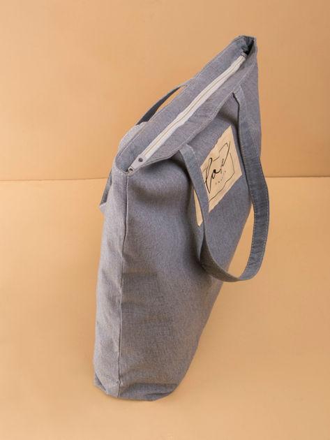 Szaro-niebieska duża uniwersalna torba                              zdj.                              15