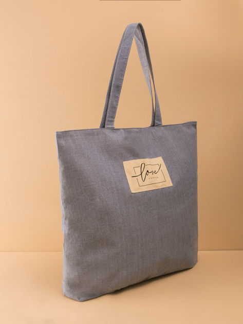 Szaro-niebieska duża uniwersalna torba                              zdj.                              17