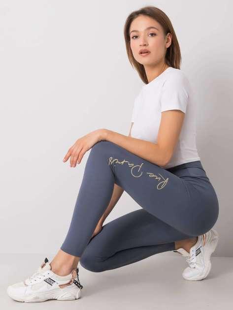 Szaro-niebieskie legginsy Sonja RUE PARIS