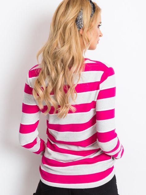 Szaro-różowa bluzka Ava                              zdj.                              2