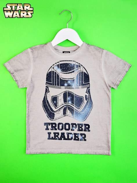 Szary dekatyzowany t-shirt chłopięcy STAR WARS                                  zdj.                                  1