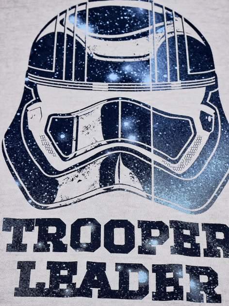 Szary dekatyzowany t-shirt chłopięcy STAR WARS                                  zdj.                                  4