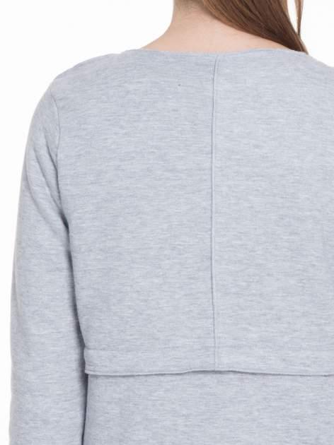 Szary dresowy bluzopłaszczyk o pudełkowym kroju                                  zdj.                                  8