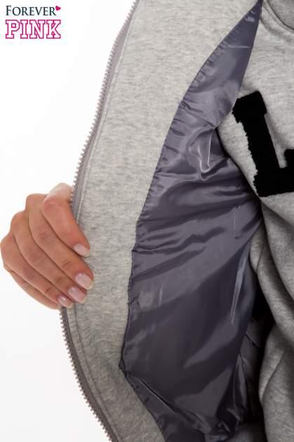 Szary dresowy komplet w stylu college                                  zdj.                                  14