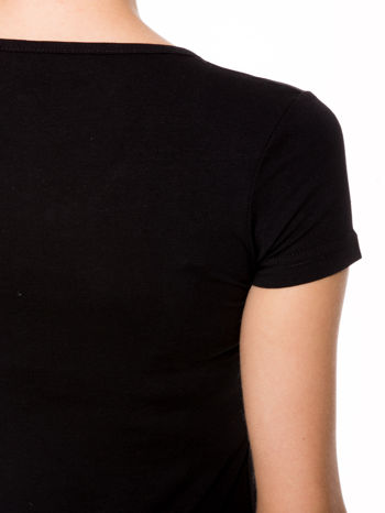 Szary gładki t-shirt                                  zdj.                                  5