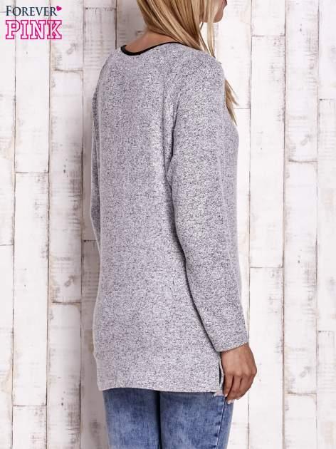 Szary melanżowy sweter                                   zdj.                                  4