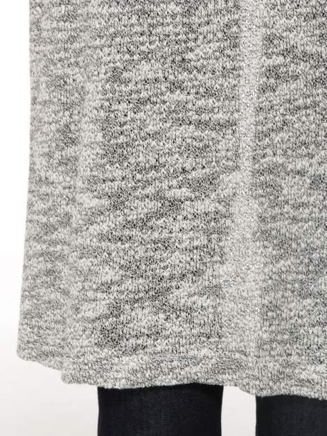 Szary melanżowy sweter typu długi kardigan                                  zdj.                                  10