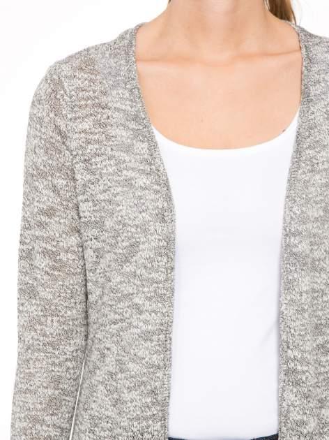 Szary melanżowy sweter typu długi kardigan                                  zdj.                                  5