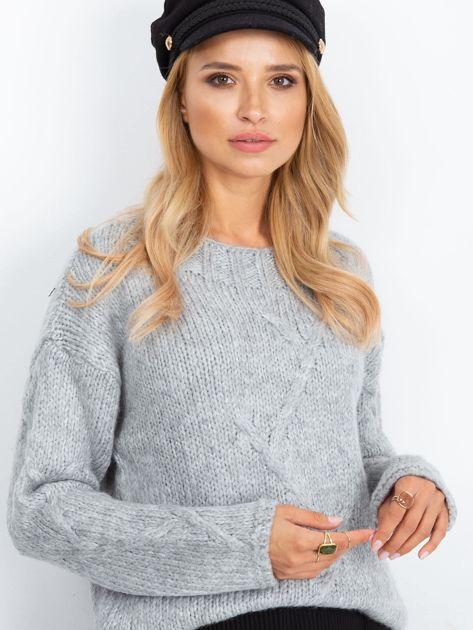 Szary sweter Tiffany                              zdj.                              5