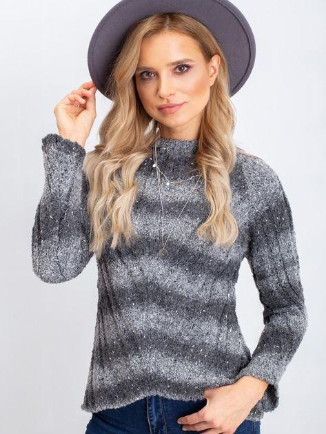 Szary sweter West                              zdj.                              5