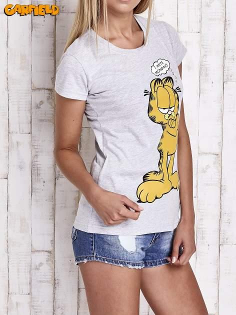 Szary t-shirt GARFIELD                                  zdj.                                  4